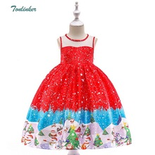 New Year Baby Girls Christmas Santa Claus Princess Dress For Girl 2-12 Years Birthday Party Dresses Christmas Children Cosplay christmas cotton snowman red long sleeve dress girl party christmas gown santa dresses with baby girls christmas funny socks