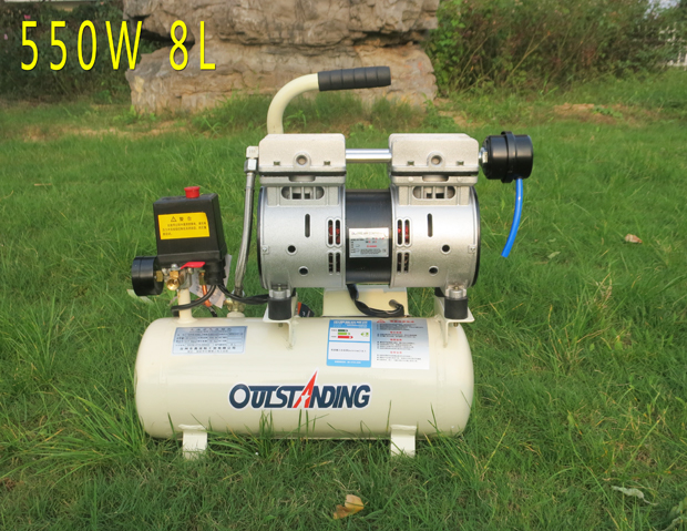 Oil free mute small sized AIR COMPRESSOR Dental pump 8/18/30L 800W Woodworking Painting portable inflator pump