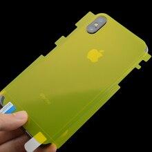 ソフトヒドロゲルバックスクリーンプロテクターフィルム iPhone 11 Pro X XR XS 最大 7 8 6 6S プラス 6P 7 1080P 8 1080P 6SP TPU 箔保護リア Fillm