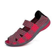 2016 Summer women flat sandals Shoes women Woven shoes Flat Shoes flip flops women multi colors sandale femme brand 812