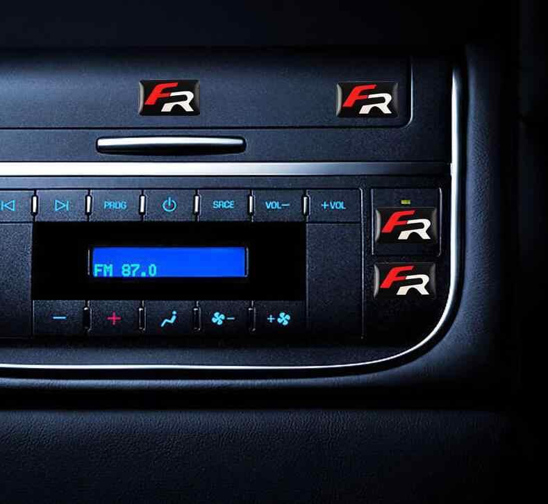 10 pcs Car styling FR pequeno Decorativo Emblema calotas volante para Seat Leon 2 FR Emblema Etiqueta Do Carro auto Acessórios