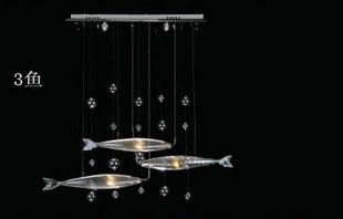 Kurze moderne wohnzimmer fische kristall lampe pendelleuchte