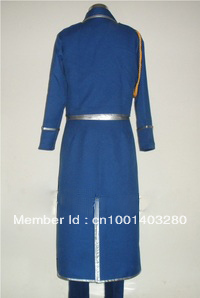 FullMetal Alchemist Cosplay Roy Mustang Uniform Costume free shipping