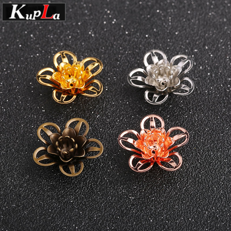 Metal Color Cameo Flower Bead Caps Diy Jewelry Findings & Components Bead Caps for Jewelry Making