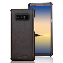 Pierre Cardin Stitched Leather Back Cover For Samsung Galaxy Note 8