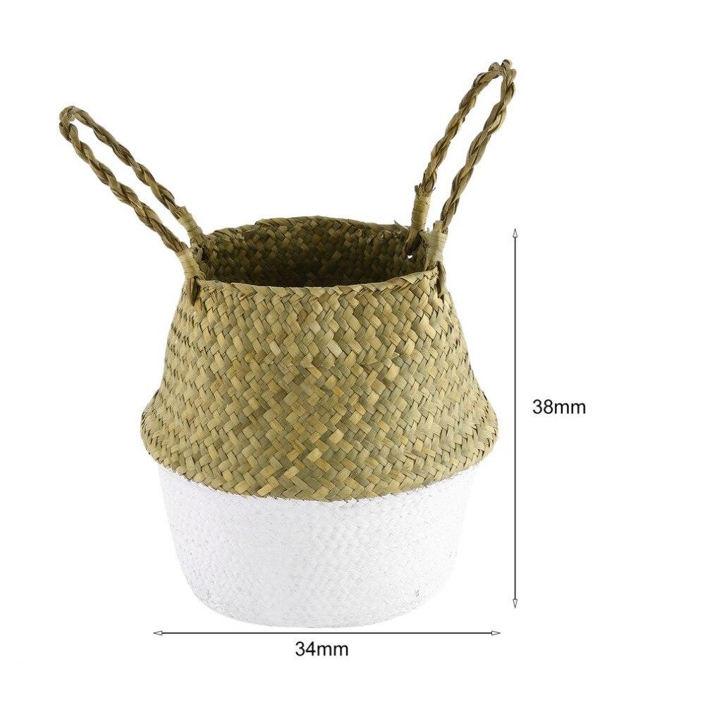 Nueva Seagrass Natural vientre canasta de almacenamiento cesta de ...