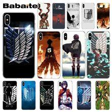 Babaite аниме японская атака на Титанов клиент высокое качество чехол для телефона для iPhone X XS MAX 6 6S 7 7plus 8 8Plus 5 5S XR