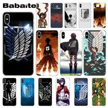 Babaite Anime Japanese attack on Titan  Customer High Quality Phone Case for iPhone X XS MAX 6 6S 7 7plus 8 8Plus 5 5S XR недорого