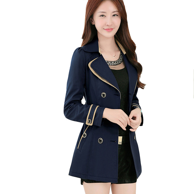afb80daccda Jackets and Coats for Women 2018 Autumn Double-Breast Casual Ladies Belted  Jacket S~3XL Jaqueta Casaco Feminino Chaqueta Mujer