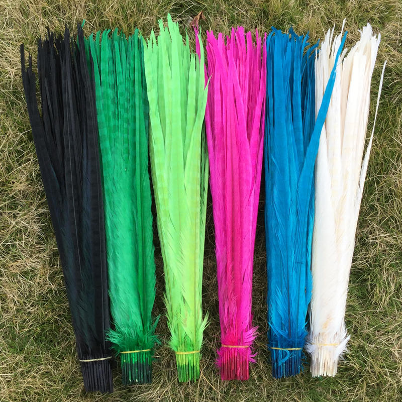 Free shipping 50pcs Pheasant Tail Feathers 50 55 cm 20 22 inches pheasant feathers centerpieces wedding