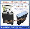 LCD  TV Heber's versteckte's Monitor Aufzüge's lift halterung's LCD elektrische aufzug's drahtlose fernbedienung bewegungen's 22 zoll lif      -