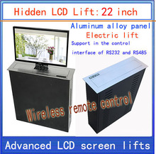 LCD, TV Lifter \ hidden \ Monitor Lifts \ lift bracket \ LCD electric lift \ wireless remote control movements \ 22-inch lif electric automatic tv lift with remote control for home furniture suitable for 25 50 inch
