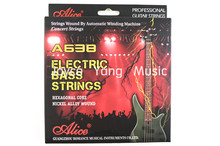 Alice A638-L/M Electric Bass Strings Nickel Alloy Wound 4 Steel Strings 040-095(045-105)in. Gold-Plated Ball-End Free Shipping