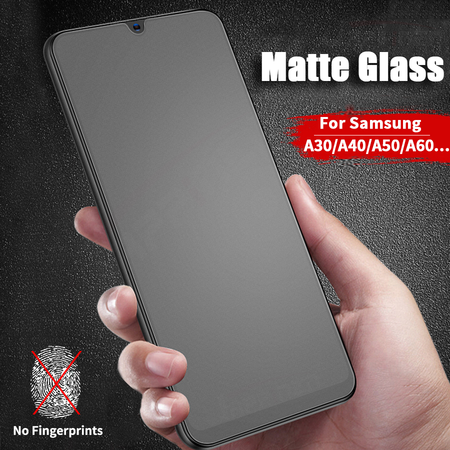 Matte Frosted Tempered Glass For Samsung Galaxy A50 A10 A20 A30 A40 A60 A70 A80 A90 M40 M20 M30 Full Cover Screen Protector Film