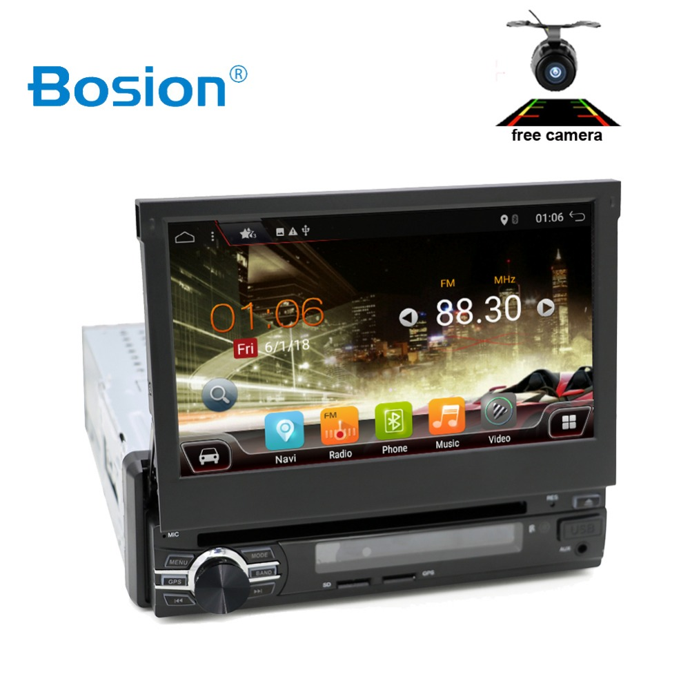 car multimedia 7 Universal 1din Android 10 Quad Core Car radio GPS Navigation Wifi BT autoRadio 2GB RAM 32GB ROM 4G SWC RDS image