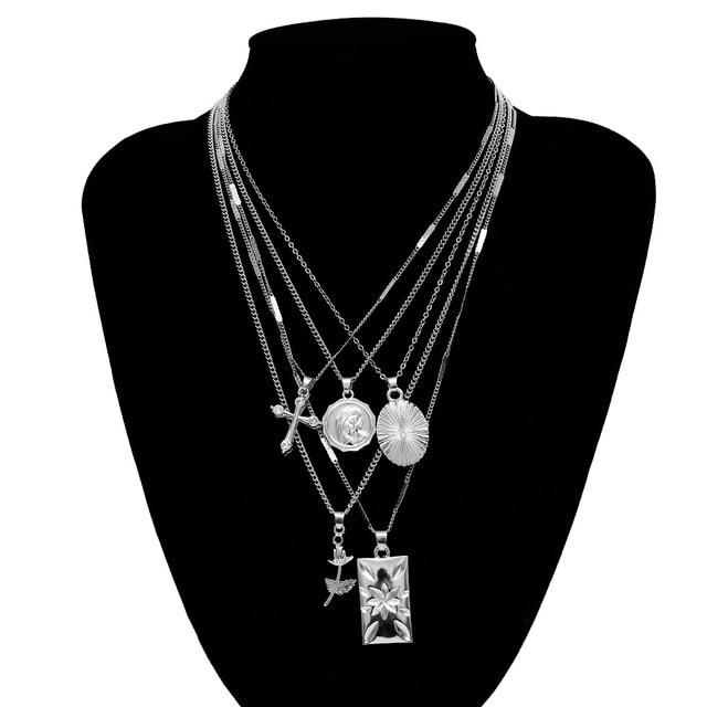 Golden Carve Ladies necklace for women 5