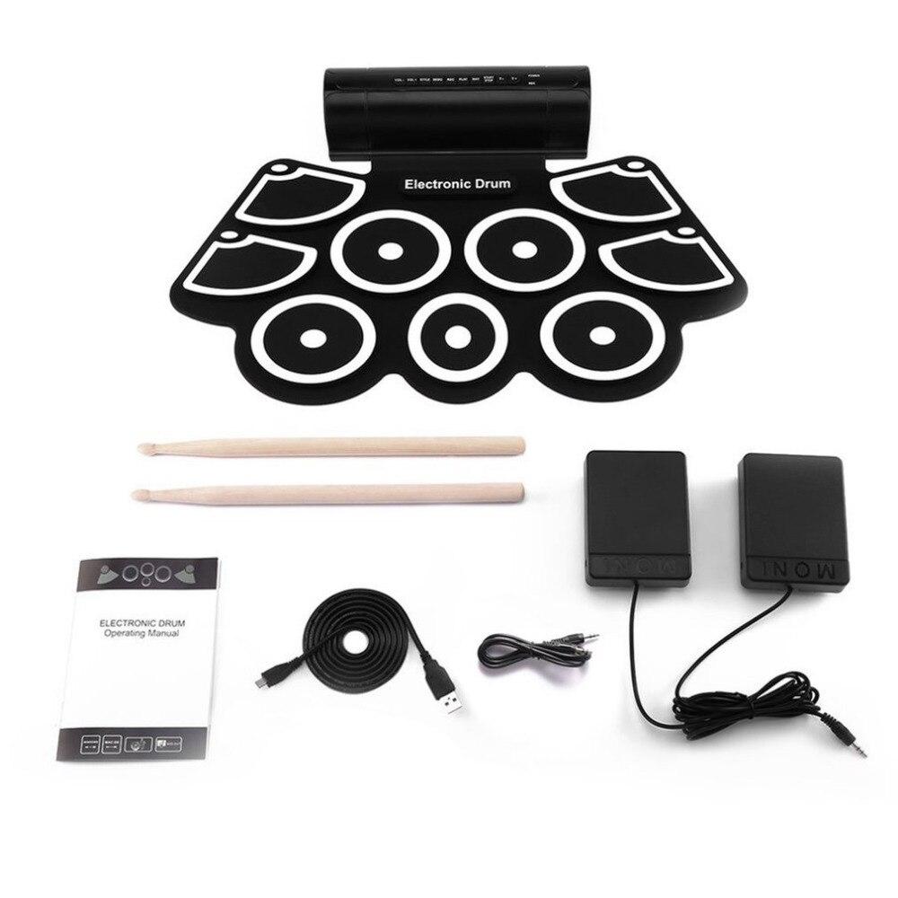 TSAI tambour électronique MD760 pliable Kit de batterie USB numérique délicat et Portable pour l'éducation prénatale apprentissage professionnel nouveau