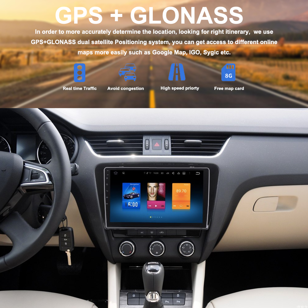 car 2 din android gps for skoda octavia 2014 2017. Black Bedroom Furniture Sets. Home Design Ideas