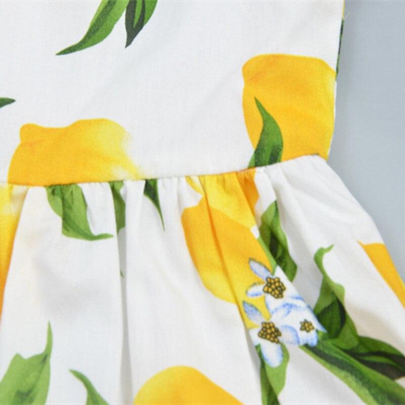 1 ədəd Ana Qız paltarları 2017 Yeni Qızlar Limon Çap Yaz Yazı - Uşaq geyimləri - Fotoqrafiya 6