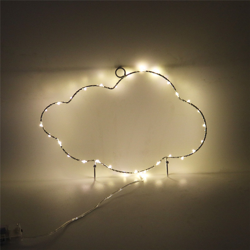 Mycyk Children's Room Decoration Ironwork Moon Star Flamingo Cactus Little Night Lamp Wall Wall Strange Decoration Hanger Lamp