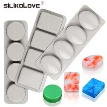 SILIKOLOVE DIY силиконовые формы для мыла ручной работы формы для изготовления мыла 3D формы Овальный Круглый квадратный пресс-формы для мыла забавные подарки