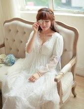 Noble Sleepwear Lace Dress Gown Elegant Nightgown Princess Dress Dress Vintage Lace Gown Bride Bridesmaid Nightgow High Quality