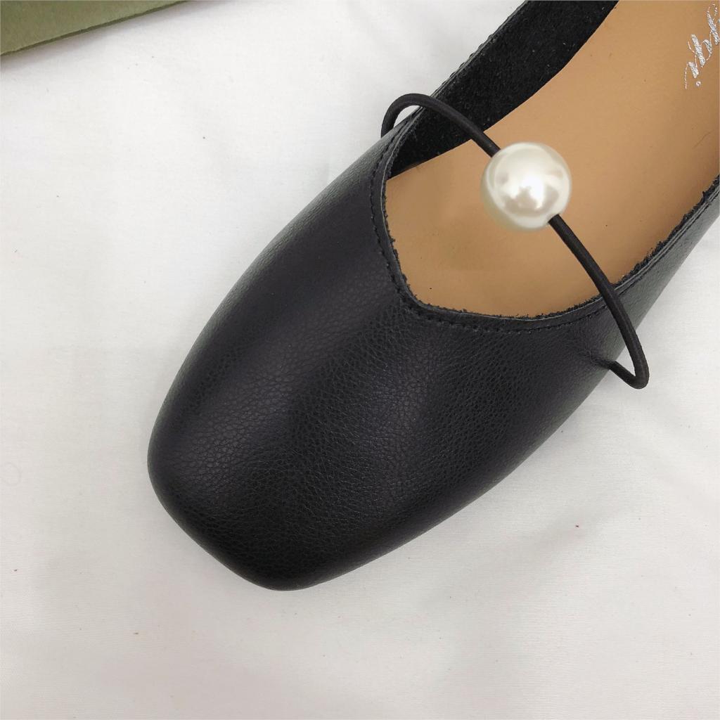 897e317684c3b Perle noir marron Casual Mode Ballerines Beige En Glissement Mocassins Cuir  Femmes Chaussures Zapatos Automne 2018 ...