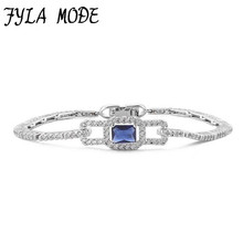 Fyla Mode Brand Red Green Blue Clear Crystal & AAA Zircon Stone Bracelets Health Nickel & Lead Free Fashion Jewelry JIN004