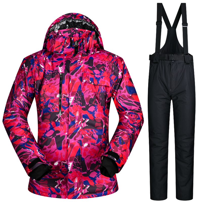 New Ski Suit Male Windproof Waterproof Thicken Clothes For Men Snowboard Jackets And Pants Brand Coat And Trousers Winter Wear