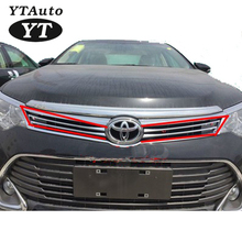 ABS Chrome front grille Grille Cover Trim For TOYOTA Camry 2015 4pcs/lots YT-71008