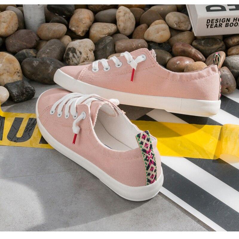 2018 Fashion Canvas Shoes Women Vulcanization