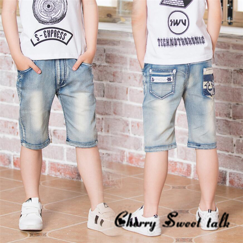 Boy's shorts, summer boys pants, ripped jeans. Kids knee water to wash jeans Boy. for: 3 4 5 6 7 8 9 10 11 13 14 years old color wash ripped distressed moto jeans