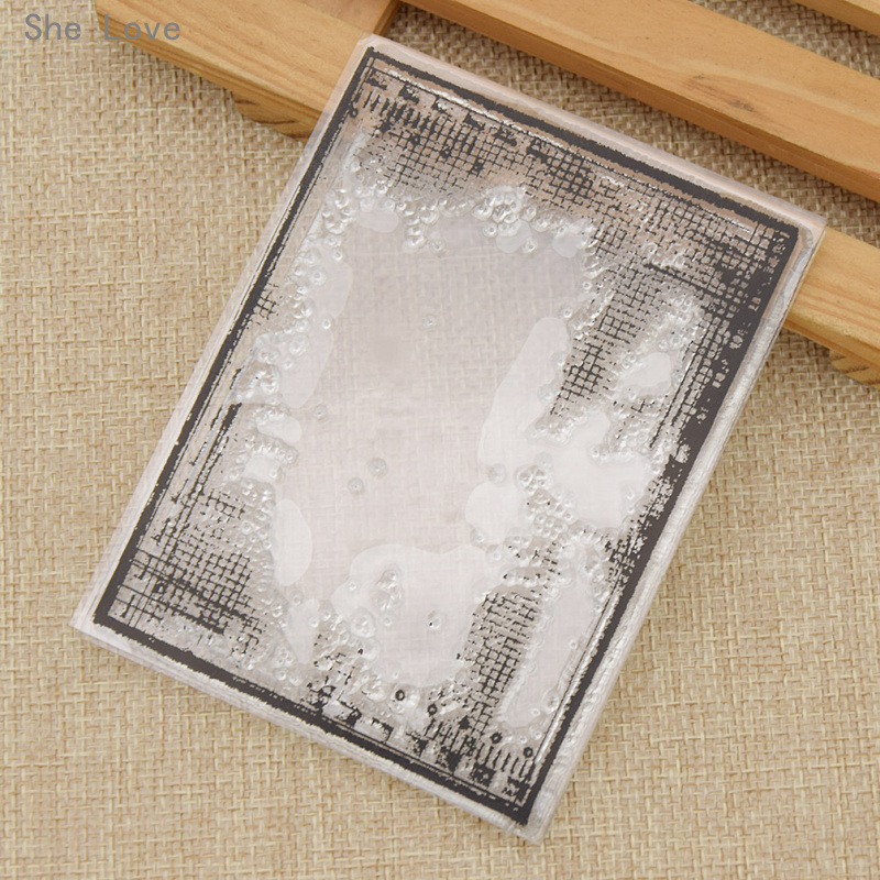 She Love Transparent Silicone Clear Stamp Cross Lines Pattern DIY Scrapbooking Card Making Handicrafts Decoration archetype transparent ver she
