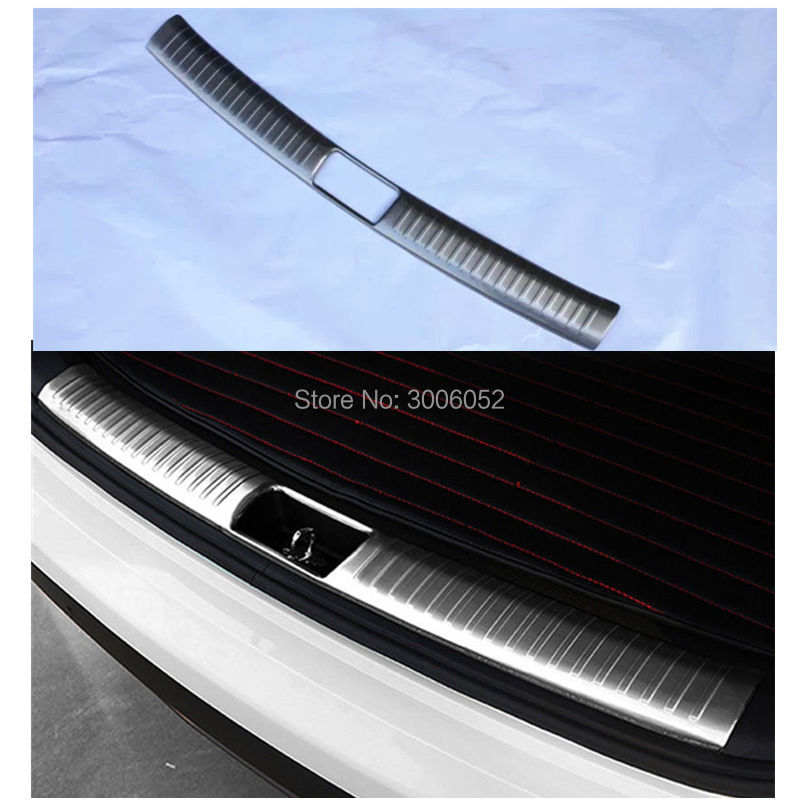 For Hyundai Creta ix25 2015 2016 Stainless Steel Inner Rear Bumper Protector Door Sill Cover Plate Trunk Trim Tail Car-styling