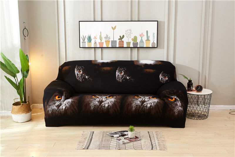 Stretchable Sofa Cover with Elastic for Sectional Couch Protects Sofa from Stains Damage and Dust 14