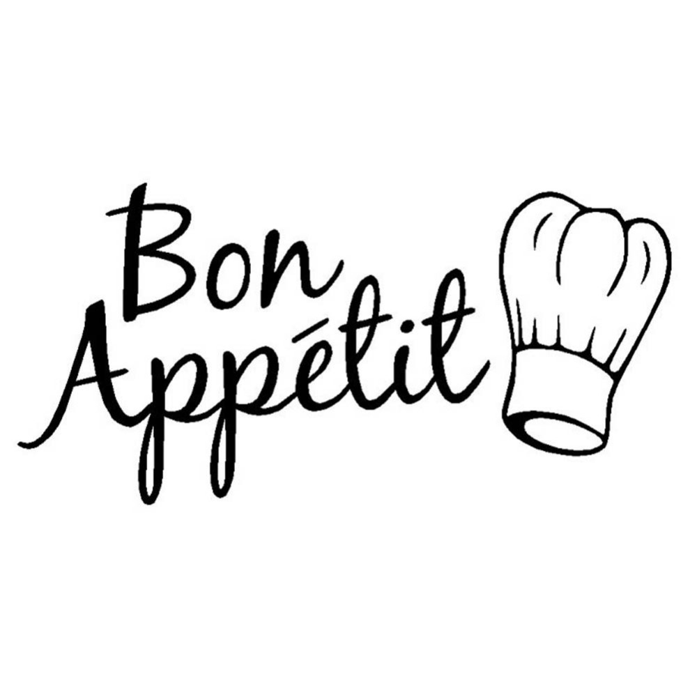 Food kitchen room decoration Kitchen Stickers Bon Appetit Wall Stickers diy vinyl adesivo de paredes home decals art Wallpapers