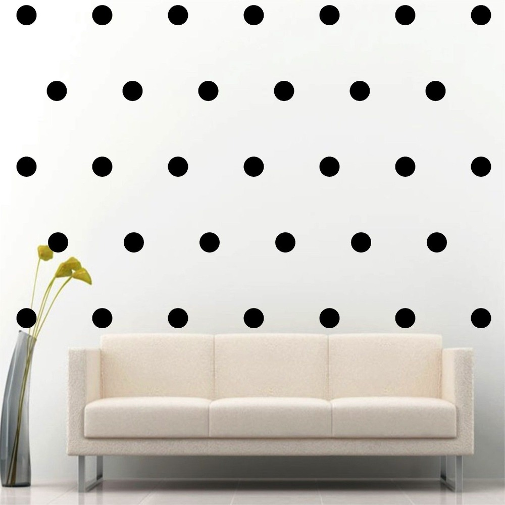 Home Decor 77 set of 3 quot Polka Circle Wall Decal Vinyl Sticker DIY Dots Kids Nursery Room Mural Bedroom Wall Paper S 18 in Wall Stickers from Home amp Garden