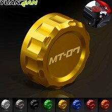 Motorcycle CNC Cylinder Rear Fuel Brake Fluid Reservoir Cover Tank Cap For Yamaha MT07 MT-07 MT 07 mt9 mt-09 fz9 MT-10 2014-2017 цена 2017