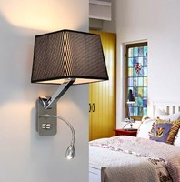 Creative Fabric Wall Sconces Band Switch Modern LED Reading Wall Light Fixtures For Bedroom Wall Lamp Home Lighting Lamparas