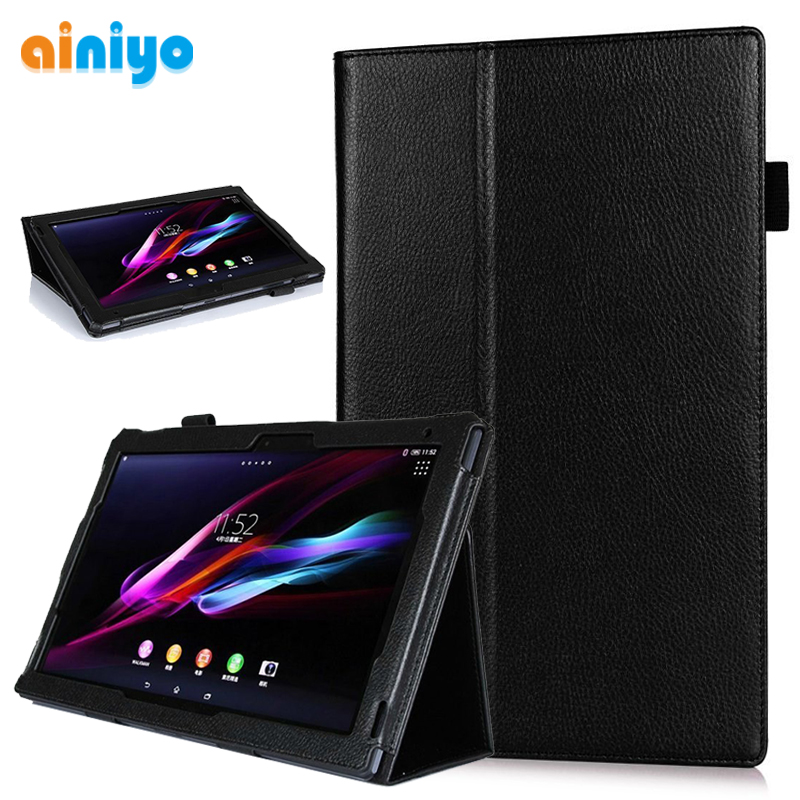 Stand Magnetic Folio Cover For Sony Xperia Tablet Z Z1 10.1 Inch Tablet PU Leather Case
