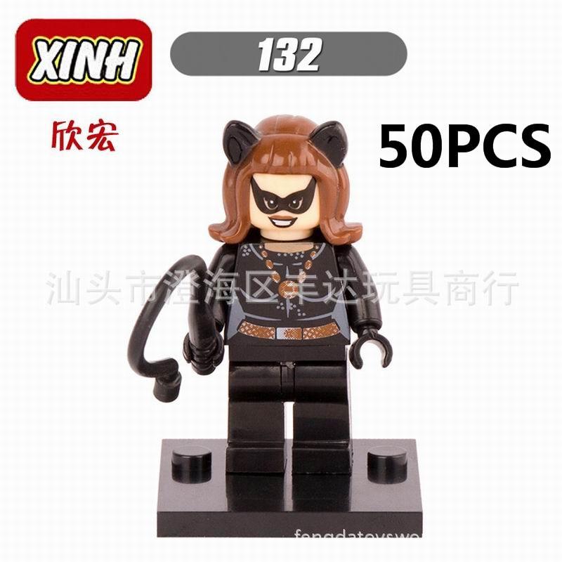 gifts Pogo Wholesale 50PCS XH132 Batman The Avengers Marvel DC Super Heroes Building Blocks Bricks Toys Compitable With Legoe