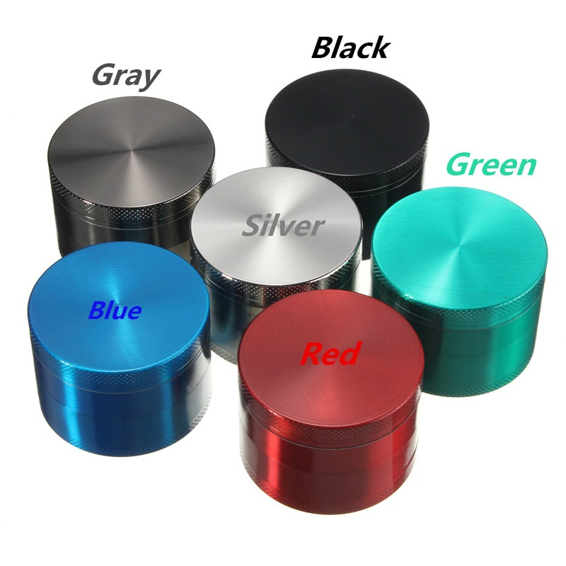 40mm 4 partes hierba molinillo triturador accesorios para fumar pipa de humo para fumar canabiss Metal para narguile Shisha