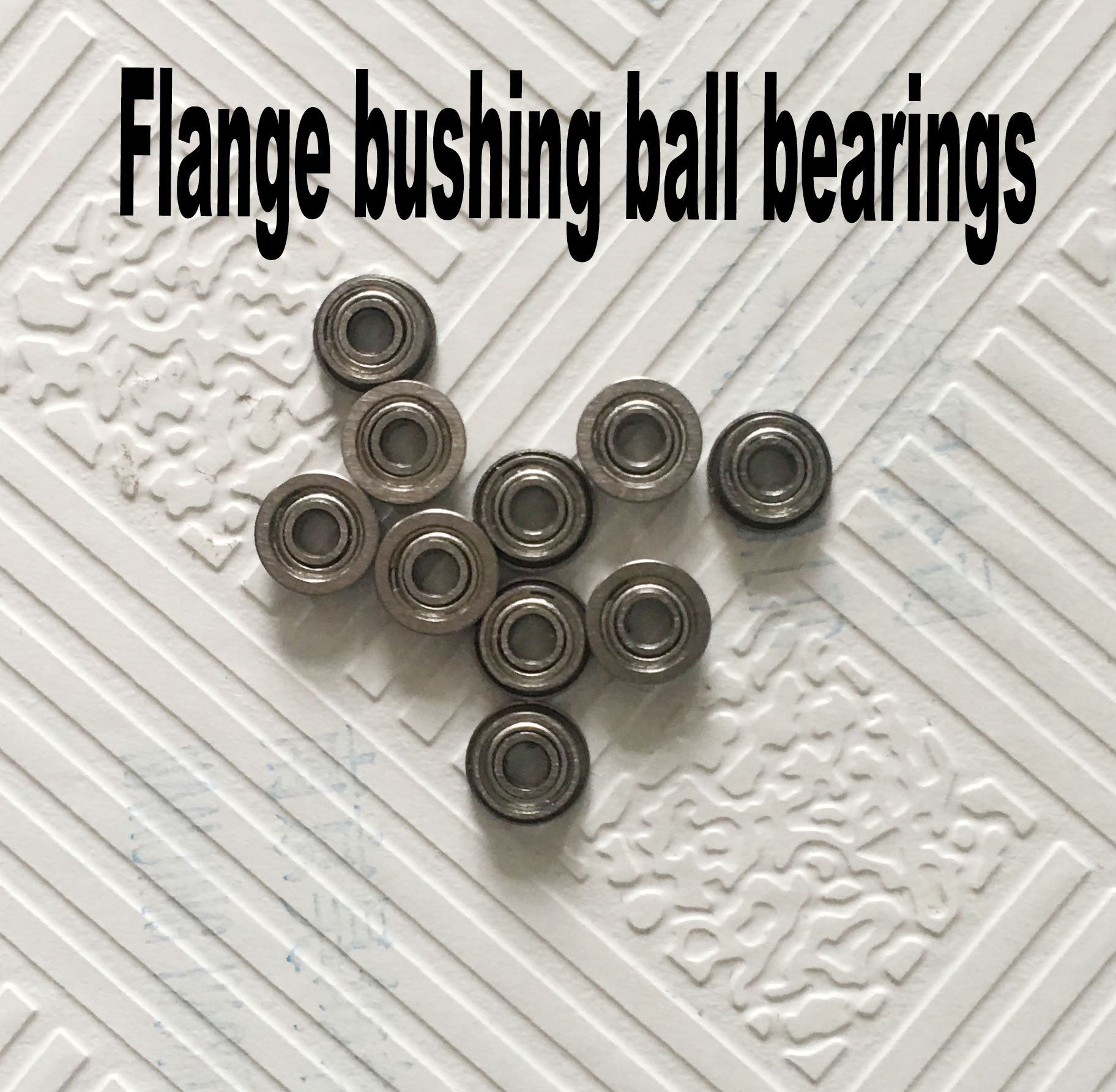 Free Shipping 10 PCS SMF52ZZ Flanged Bearings 2x5x2.5 mm Stainless Steel Flange Ball Bearings free shipping 10 pcs mf74zz flanged bearings 4x7x2 5 mm flange ball bearings lf 740zz
