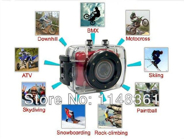 Новый 10 м Водонепроницаемая Камера Действий Cam 720 P HD Цифровая Видеокамера Бесплатная доставка