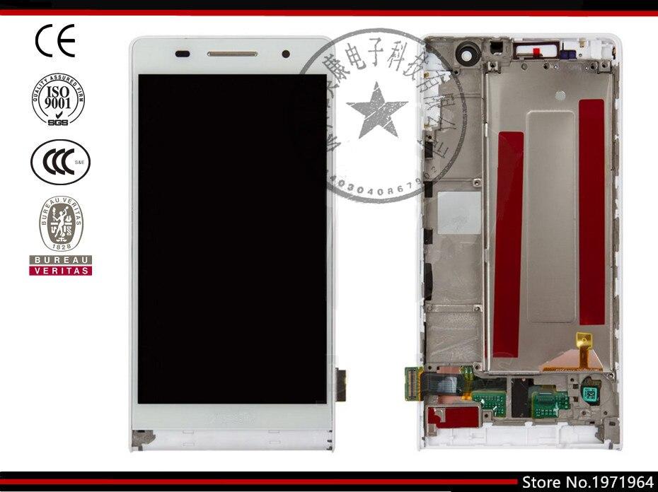 Pantalla lcd de pantalla para huawei ascend p6-u06 teléfono celular, (negro, bla