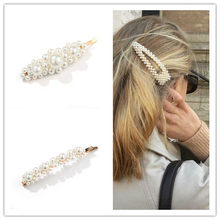 3Pcs / Set Pearl Hair Clip Elegant Korean Design Snap Hairband Comb Bobby Pin Barrette Hairpin Headdress Wedding Accessories(China)