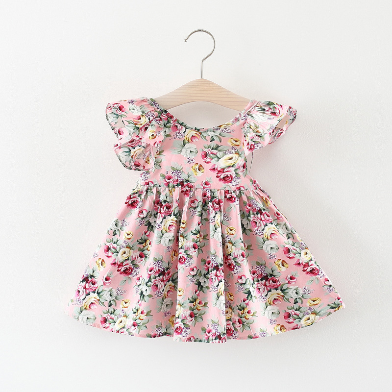 2018 Summer Fashion floral Baby Dress Princess Dress cute Sleeveless baby girls clothes newborn Baby Infant Dress 0-2 Years