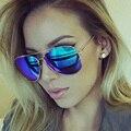 Homens Marca De Luxo Óculos Polarizados Óculos de Aviador Óculos De Sol Das Mulheres 2016 Rose Gold Aginst Sunglases Luneta Femme Óculos de Sol