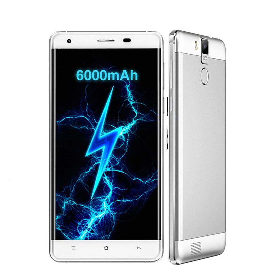 "Оригинал K6000 OUKITEL Pro 4 Г 6000 мАч Смартфон 5.5 ""2.5D MTK6753 FHD Окта основные Android 6.0 3 ГБ + 32 ГБ 8MP 13MP 1920 * 1080px Телефон"