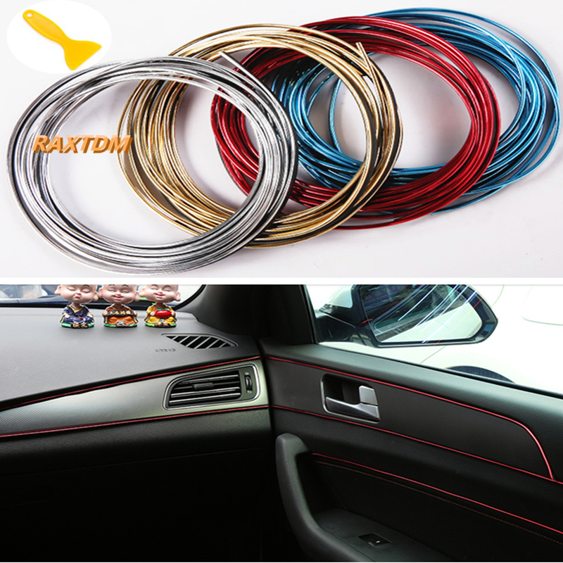 5m Car Interior Exterior Mouldings Trim Decorative Strip Line For Volkswagen POLO Tiguan Passat CC Golf 6 7 Jetta MK5 MK6 Bora